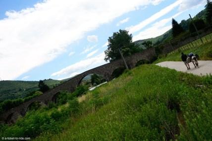 France, GR 70, entre Saint-Etienne et Saint-Jean-du-Gard