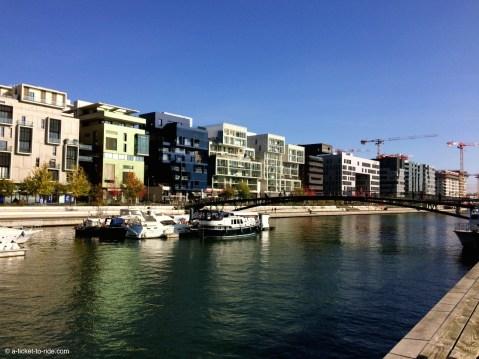 Lyon, la Confluence, le quai Riboud