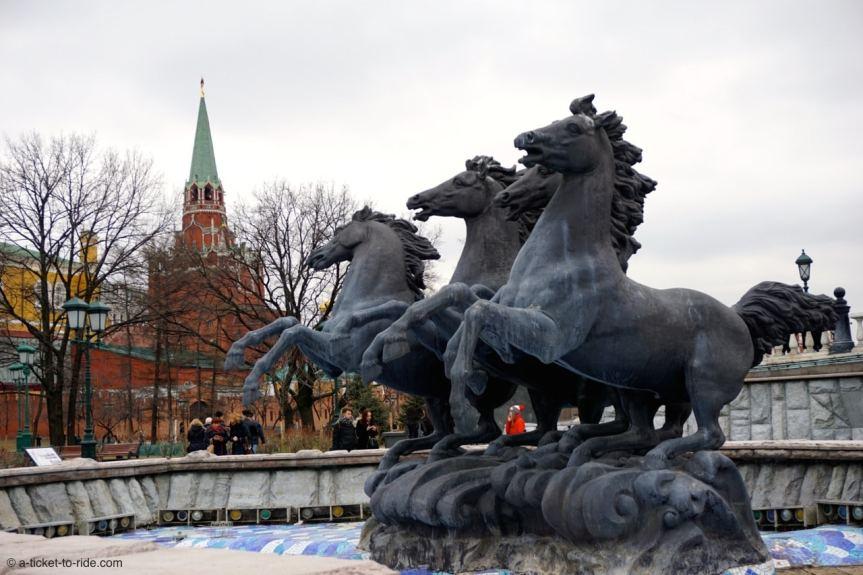 Russie, Moscou, jardins du Kremlin