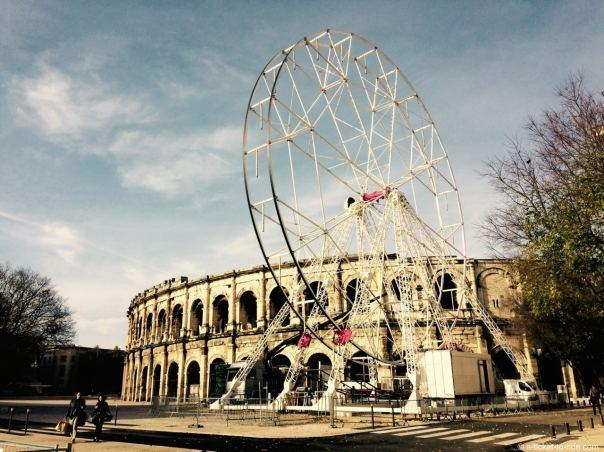 Nîmes, les Arènes et la Grande Roue