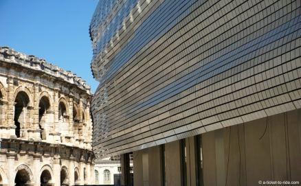 Nîmes, musée de la romanité en construction