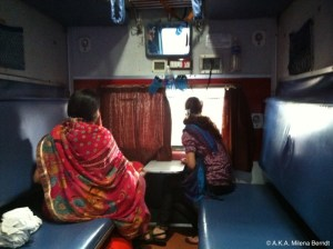 Le train en Inde, couchettes