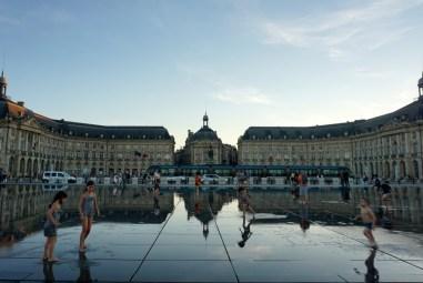 Bordeaux, Miroir d'eau, place de la Bourse