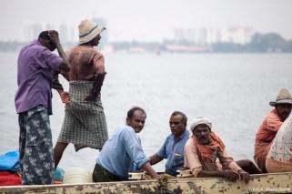 Inde, Kochi, pêcheurs