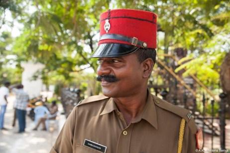 Inde, Pondichéry, le képi et la moustache