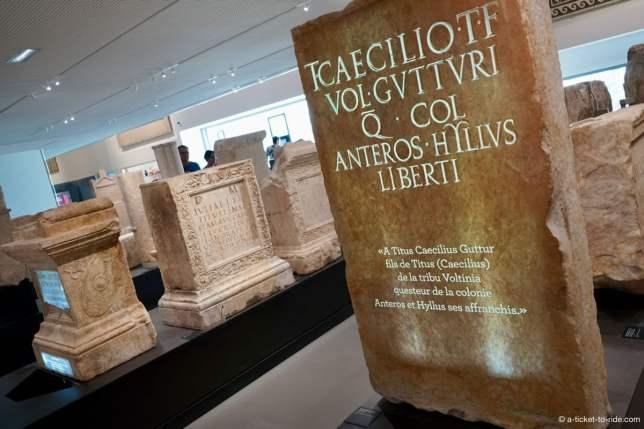 Nimes, musée de la romanité, gravure