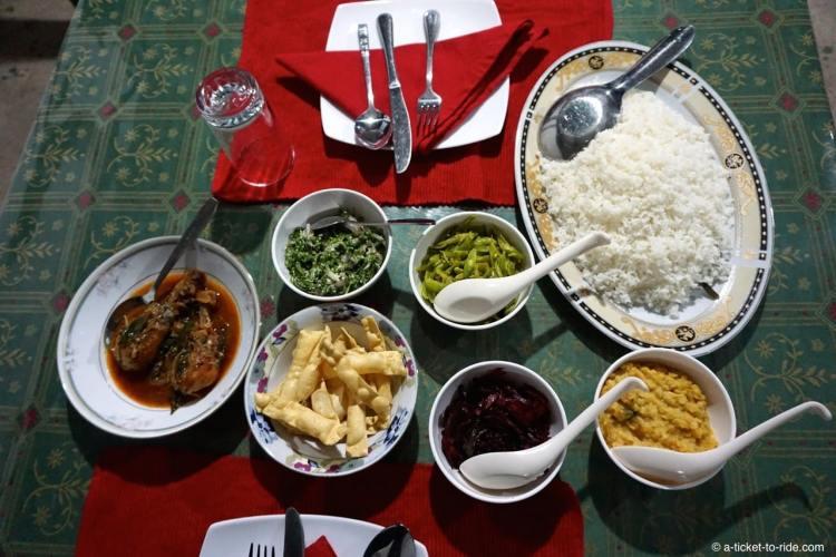 Sri Lanka, rice and curry