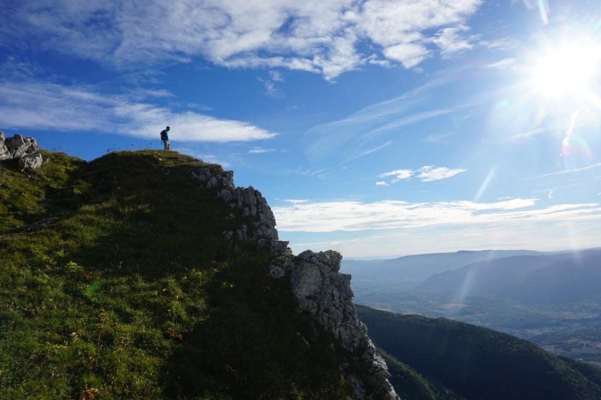Ain, col du Grand Colombier, vue
