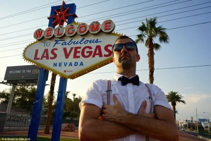 USA, Las Vegas, panneau Welcome