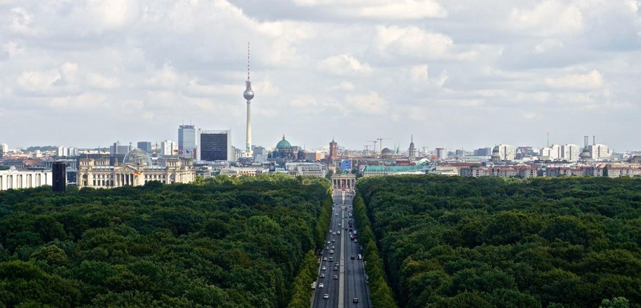 Berlin, vue depuis la colonne de la victoire