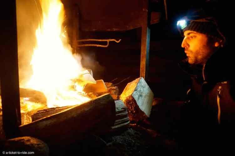 Laponie finlandaise, feu de cheminée