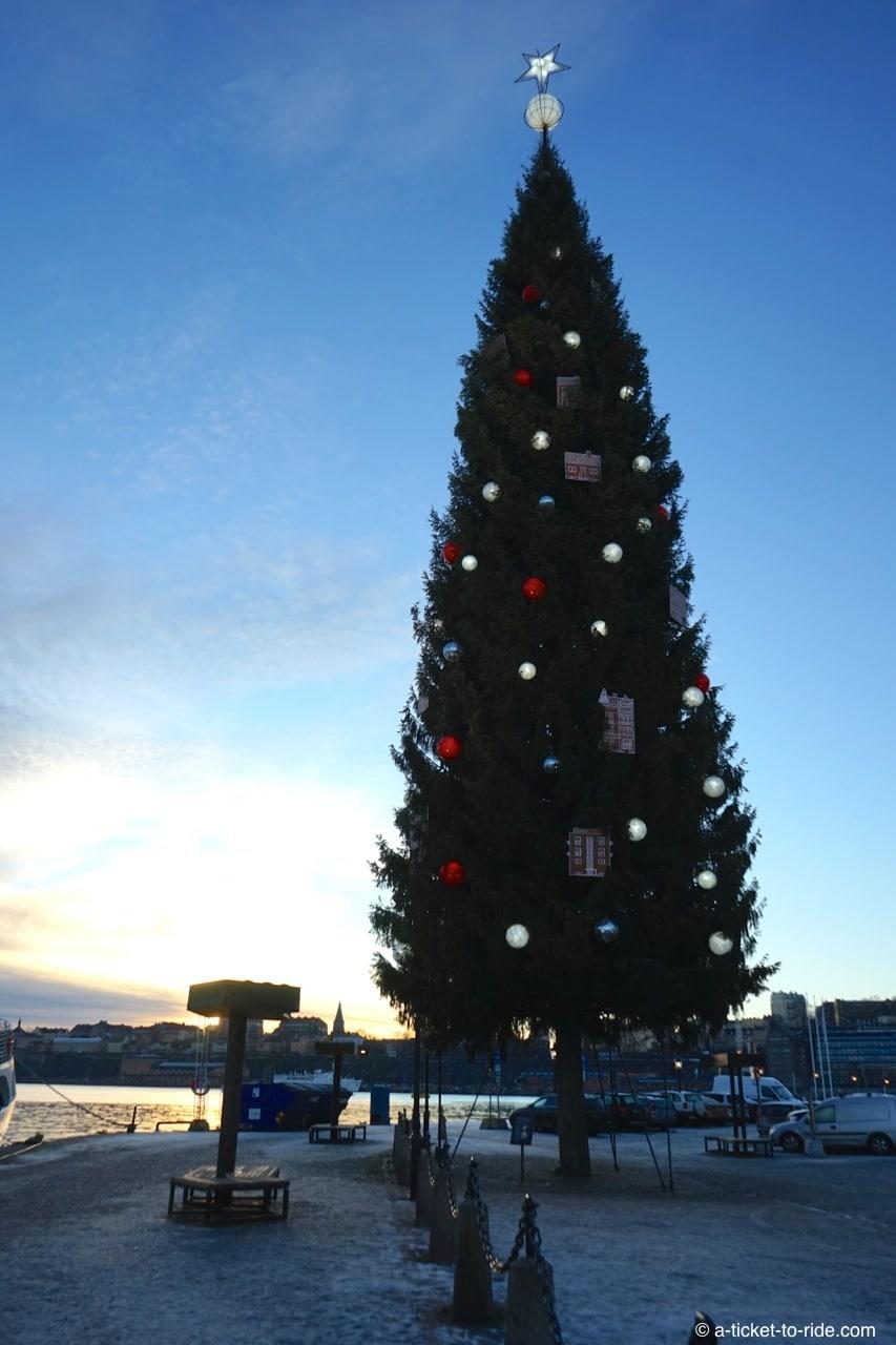 Stockholm, le plus grand sapin de Noël du monde