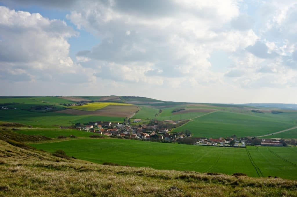 Cote d'Opale, village Escalles
