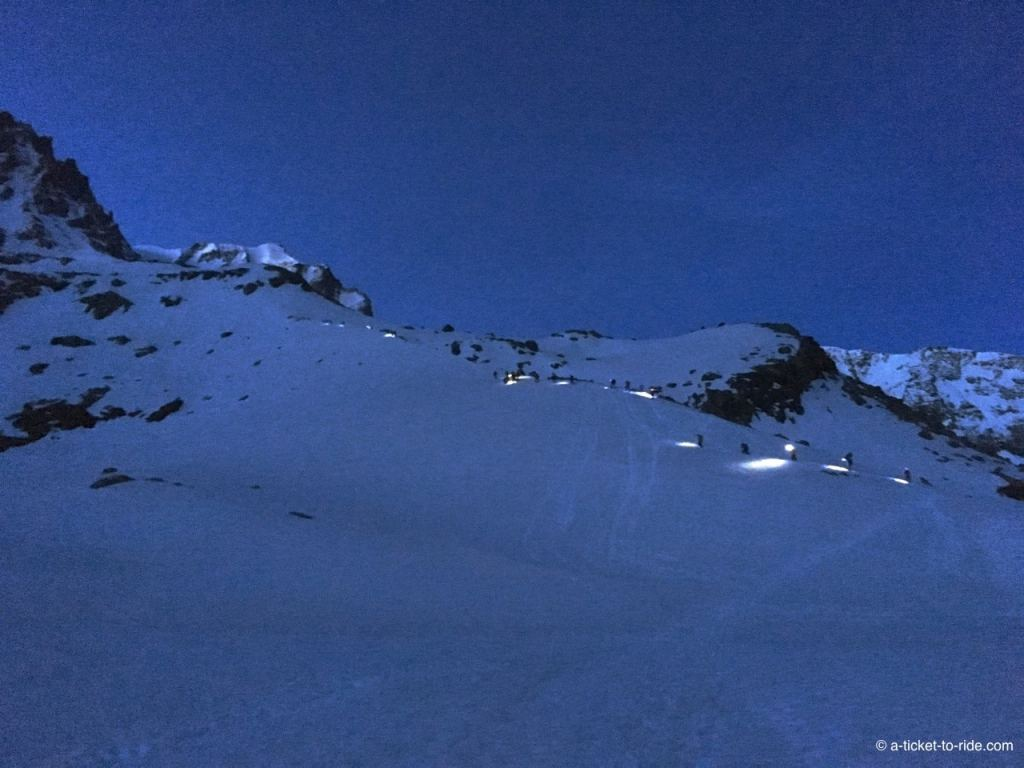 Grand Paradis, ascension de nuit