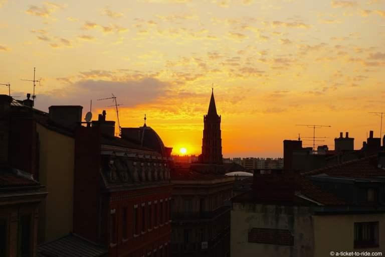 Toulouse, coucher de soleil