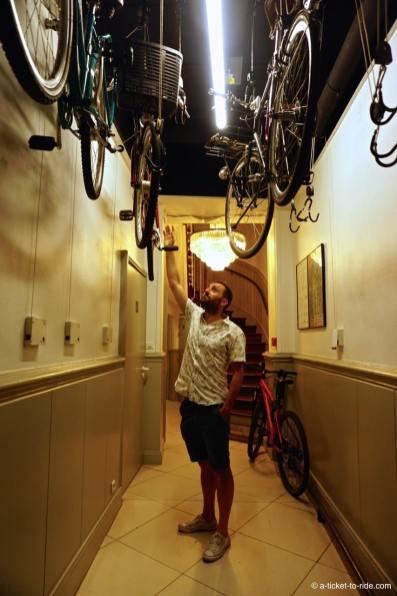 Toulouse, Hotel Albert 1er, parc à vélo