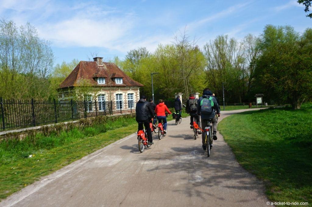 Piste cyclable jusqu'à Roubaix
