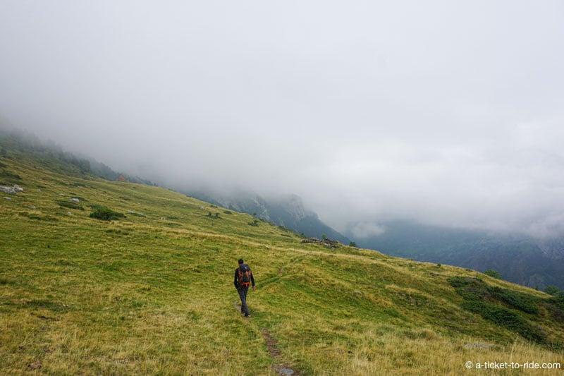 Plateau de Coumély, descente vers Gavarnie
