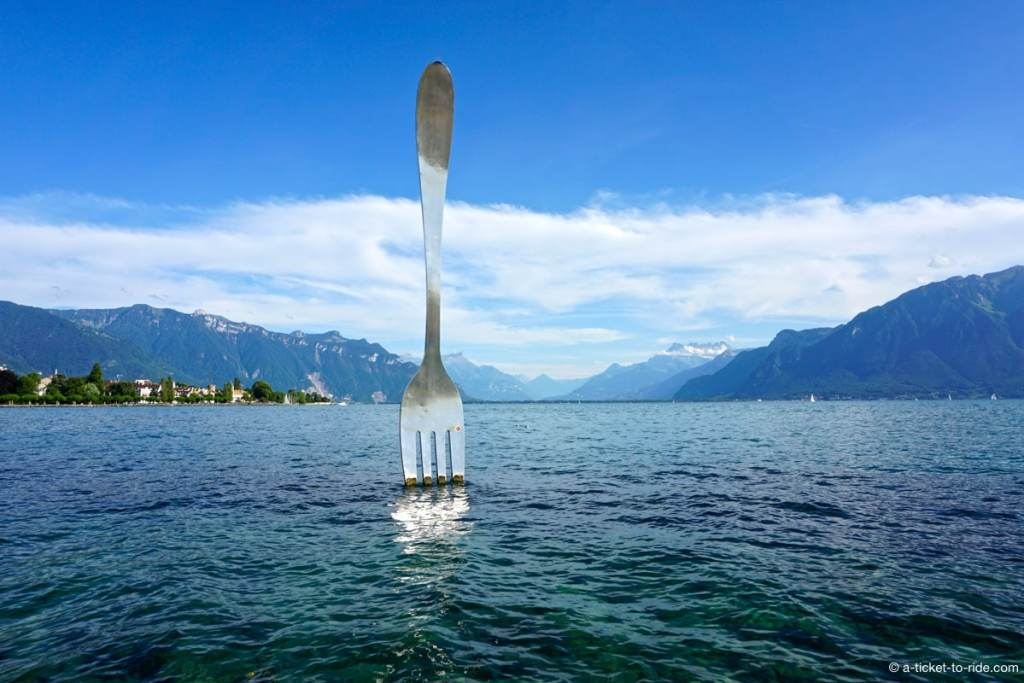 Lac Léman, fork of Vevey