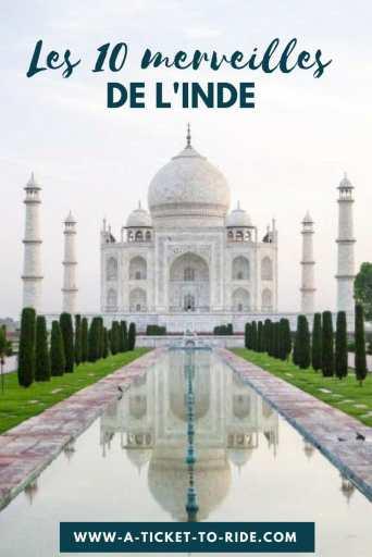 Pinterest, les 10 merveilles de l'Inde