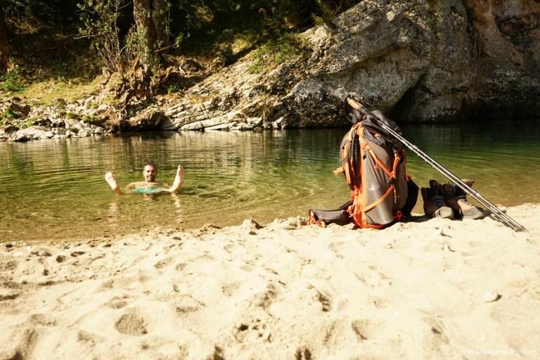 Gorges du Tarn, baignade