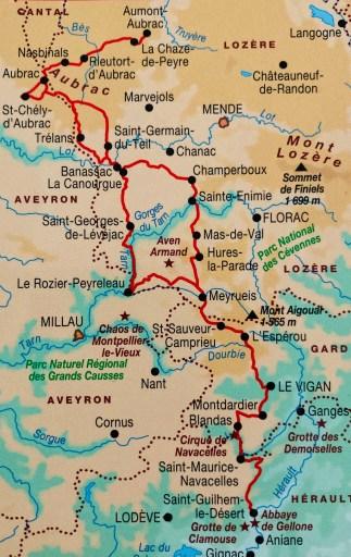 Topoguide, Chemin de Saint-Guilhem-le-Désert