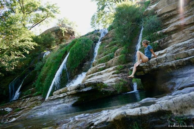 Navacelles, cascades
