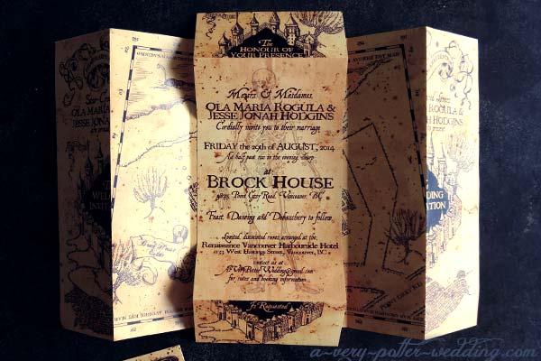 Marauder S Map Wedding Invitations A Very Potter