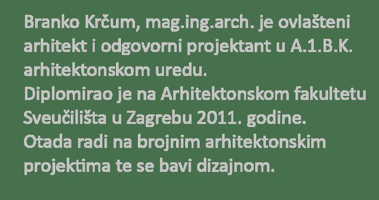 arhitekt split branko krčum