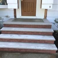 brick front steps installation