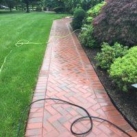 brick walkway installation