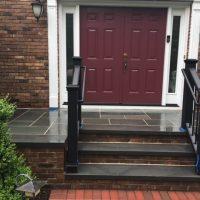 black brick steps