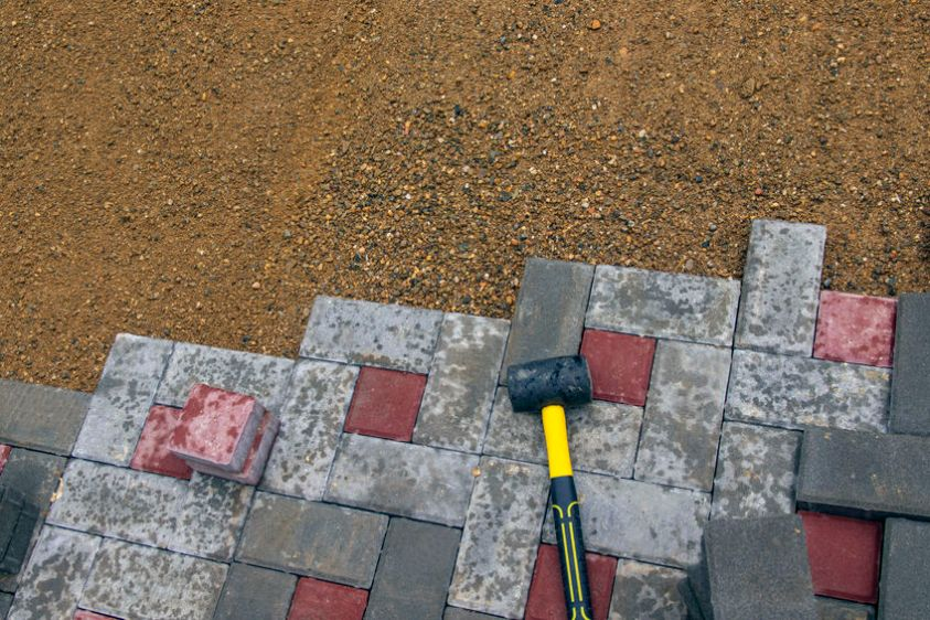 pavers design creating a patio