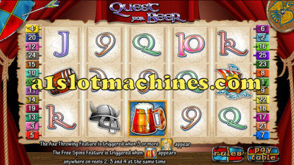 Quest for Beer Slot Machine