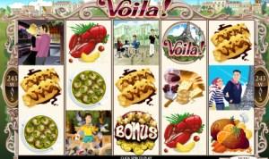 Voila! French Theme Slot Machine Game Screen