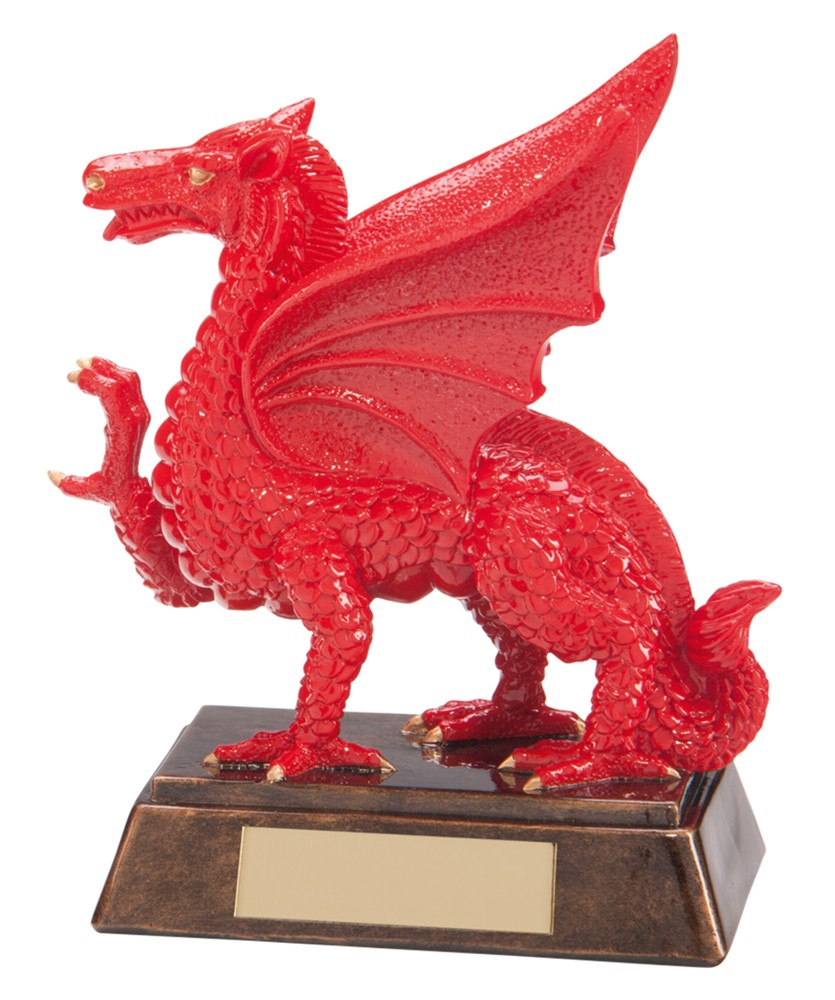 Resin Celtic Welsh Dragon Rugby Trophies A1 Trophies