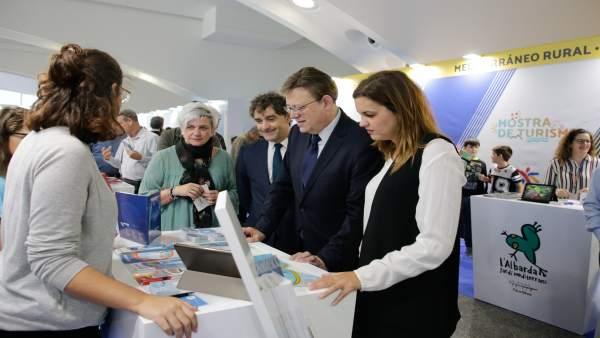 Puig valora la primera 'Mostra de Turisme' como una manera de vertebrar la Comunitat Valenciana