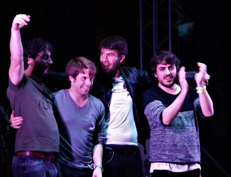 De izquierda a derecha: Mario, Alex, Salva y Sergio