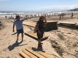 082019 Visita playas vicealcaldesa y edil de Turismo (2)