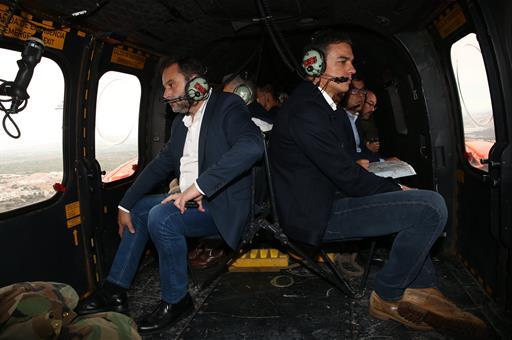 Pedro Sánchez viajo a Alicante y Murcia para conocer de primera mano los efectos de la gota fría en la zona