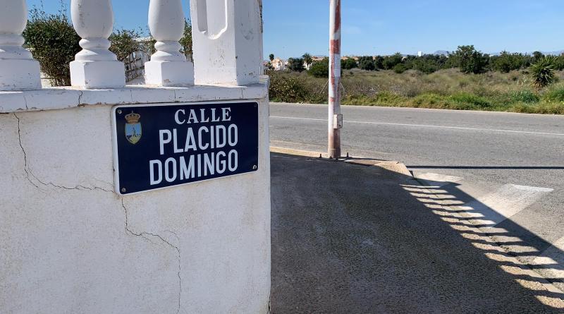 Los Verdes piden eliminar la calle a Placido Domingo en Torrevieja