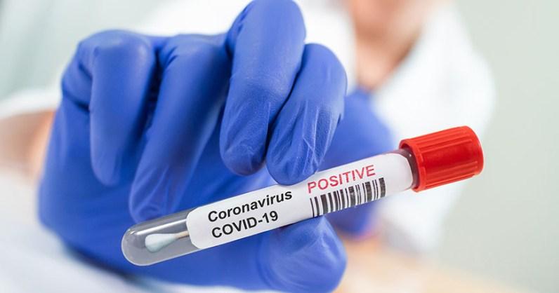 Coronavirus infected blood sample tube