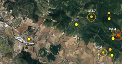 Serie de terremotos que ha sacudido la zona de Lizoáin esta pasada madrugada