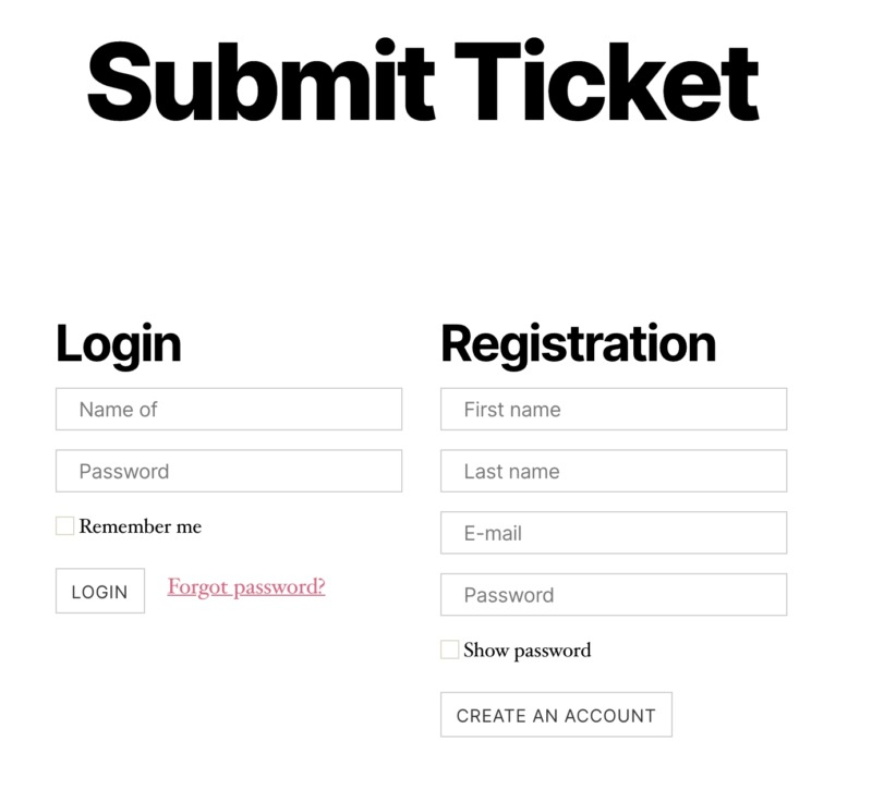 A ticket, created using Awesome Support.