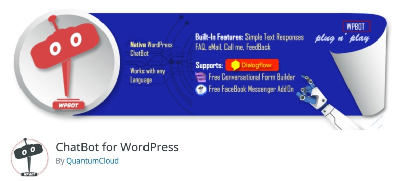The ChatBot plugin for WordPress.