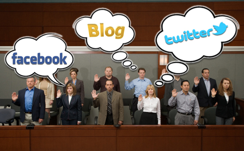 jury consulting social media facebook twitter blog