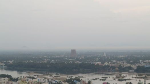 View from Rock Fort Trichy