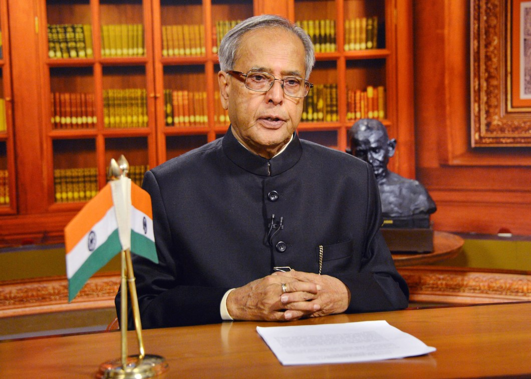 The President, Shri Pranab Mukherjee addressing the Nation on the eve of the 64th Republic Day, in New Delhi on January 25, 2013.