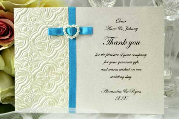 Embossed Thank You Invitations