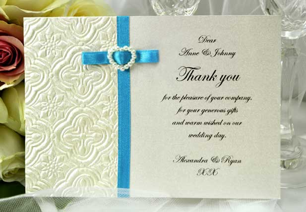 Easy Wedding Thank You Card Wording Templates A Practical We Re Your Planner Ideas For Brides Bridesmaids